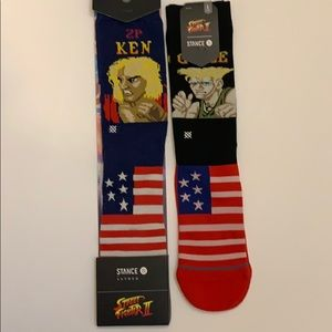 New men's Street Fighter Stance socks bundle.